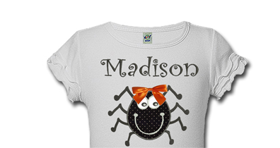 Personalized Spider Halloween Shirts For Girls
