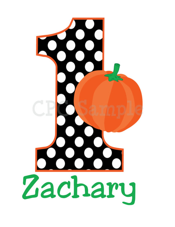 Polka Dot Pumpkin Personalized Kids Birthday Shirts