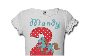 Personalized Horse Kids Birthday Shirts