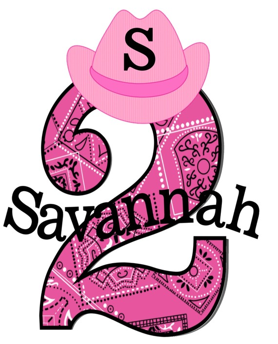 Cowgirl Personalized Girls Birthday Shirts