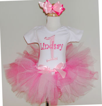 Personalized Pink Birthday Tutu Outfit
