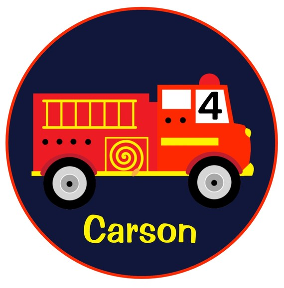Personalized Fire Truck Birthday Shirts
