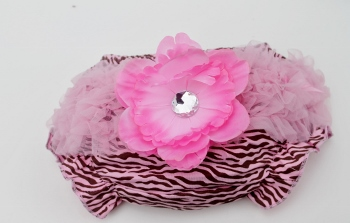 Pink and Brown Zebra Print Ruffled Bloomers
