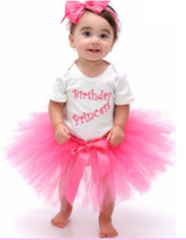 Pink and White Birthday Princess Tutu Set