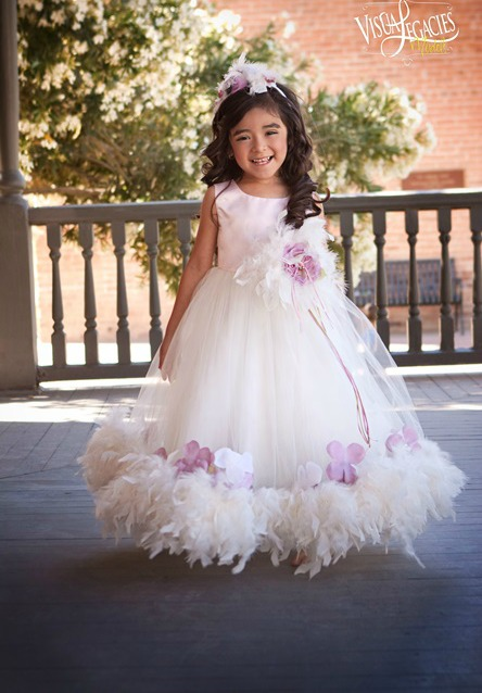 Lily Rose Feather Dress For Girls