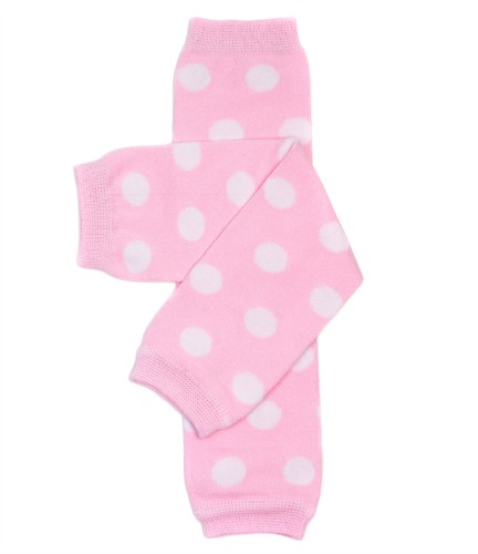 Pink Polka Dot Girls Legwarmers