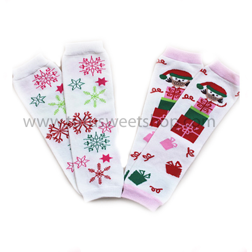Pink Holiday Snowflake or Holiday Presents Legwarmers