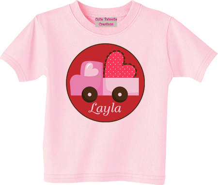 Personalized Valentines Day Truck Valentines Day Shirt
