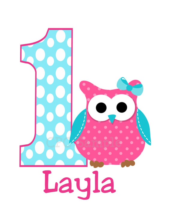Polka Dot Owl Personalized 1st Birthday Shirts