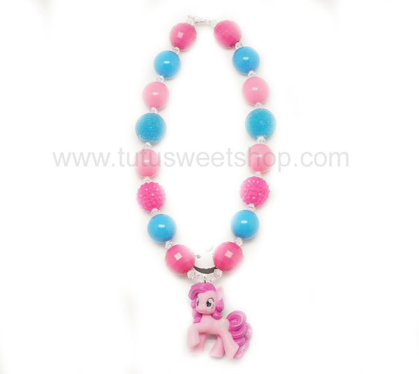Pinkie Pie Pony Gumballs Chunky Girls Necklaces
