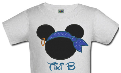 Pirate Mickey Personalized Boys Birthday Shirts