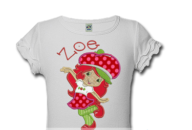 Polka Dot Strawberry Shortcake Personalized Girls Birthday Shirts