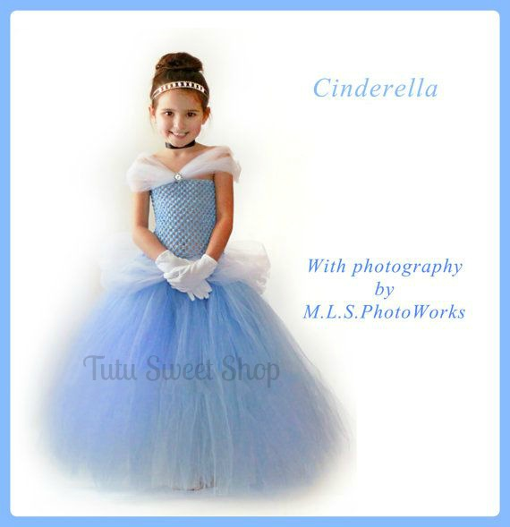 Handmade Cinderella Inspired Tutu Dress Costume