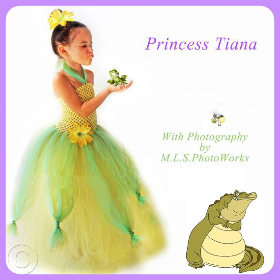 Handmade Tiana Inspired Tutu Dress Costume