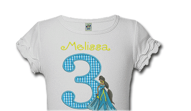 Princess Jasmine Personalized Girls Birthday Shirts