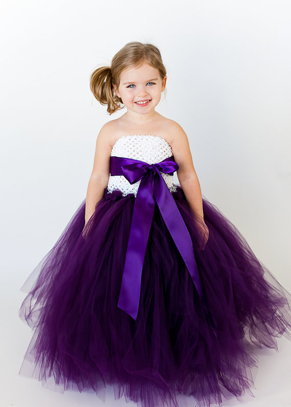 Custom Flower Girl Tutu Dresses With Removable Sash