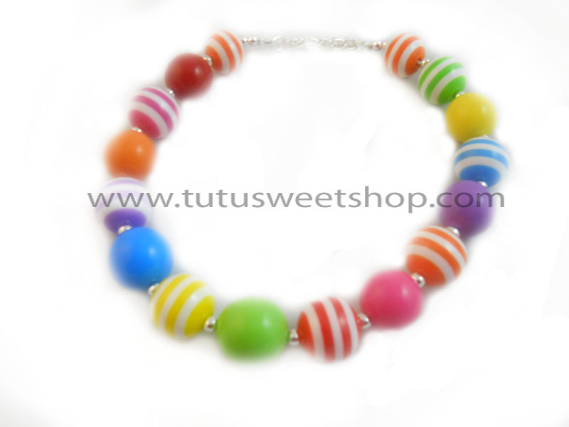 Rainbowlicious Gumball Chunky Girls Necklaces