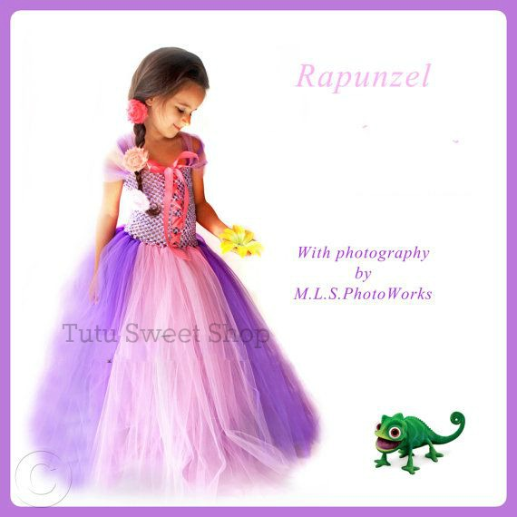Handmade Rapunzel Inspired Tutu Dress Costume