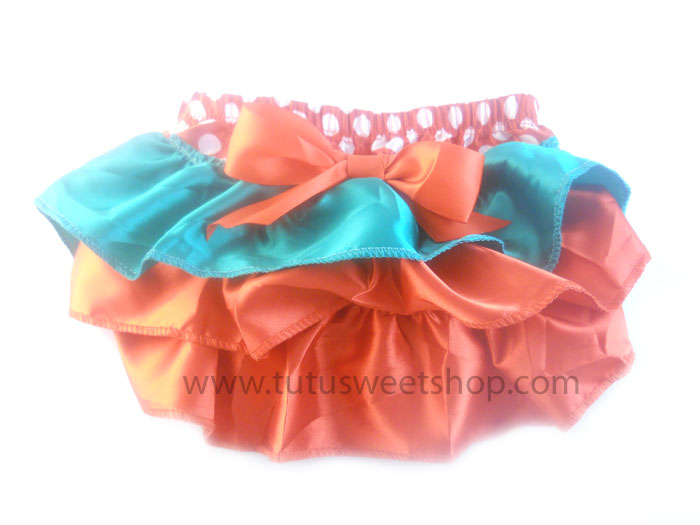 Red, Green and White Polka Dot Ruffled Christmas Bloomers