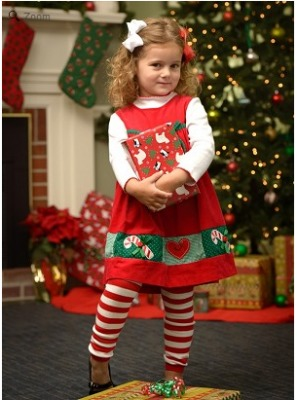 Red and White Striped Christmas Legwarmers Only