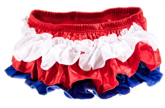 Red, White and Blue Ruffled Diaper Covers
