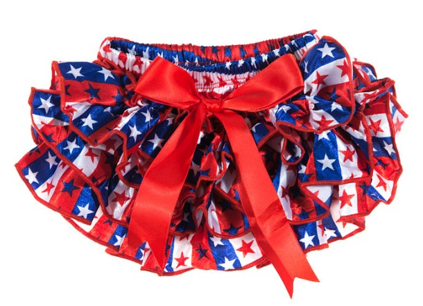 Red, White and Blue Ruffled Stars Diaper Covers