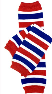 Red, White and Blue Stripe Legwarmers