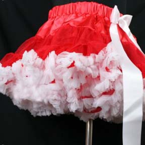 Red and White Pettiskirt ONLY