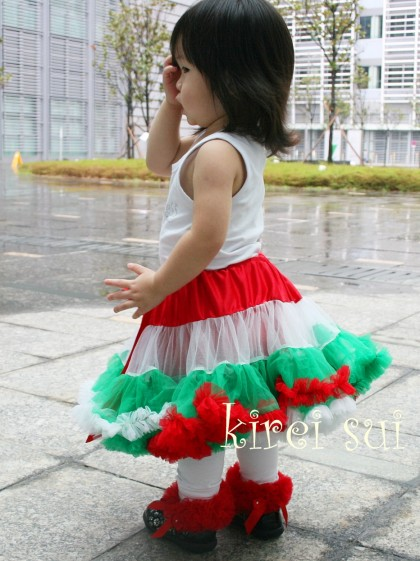 Red, White and Green Pettiskirt ONLY