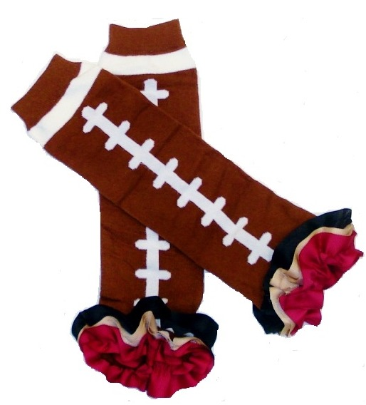San Francisco 49ers Inspired Ruffled Legwarmers