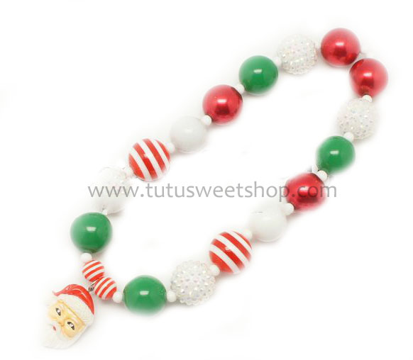 Santa Gumballs Holiday Chunky Girls Necklaces