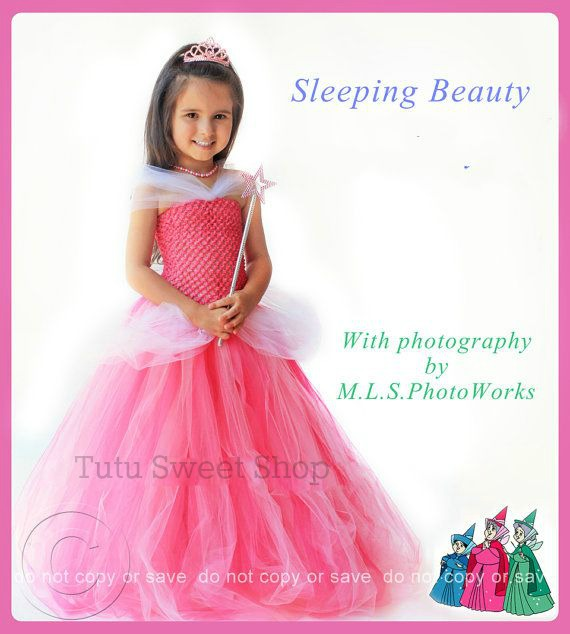 Handmade Sleeping Beauty Inspired Tutu Dress Costume