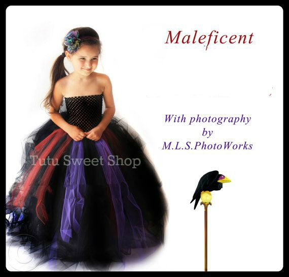 Handmade Sleeping Beauty Villian Inspired Tutu Dress Costume