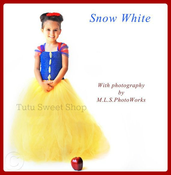 Handmade Snow White Inspired Tutu Dress Costume