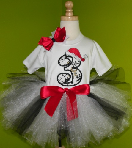Custom Snowflake Birthday Christmas Tutu Outfit