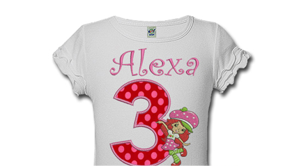 Strawberry Shortcake Personalized Girls Birthday Shirts