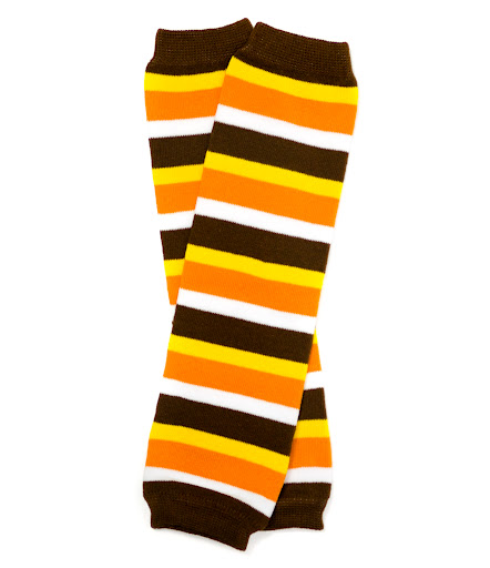 Turkey Day Striped Kids Legwarmers