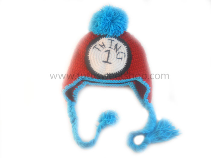 Thing 1 or Thing 2 Crochet Hats For Kids