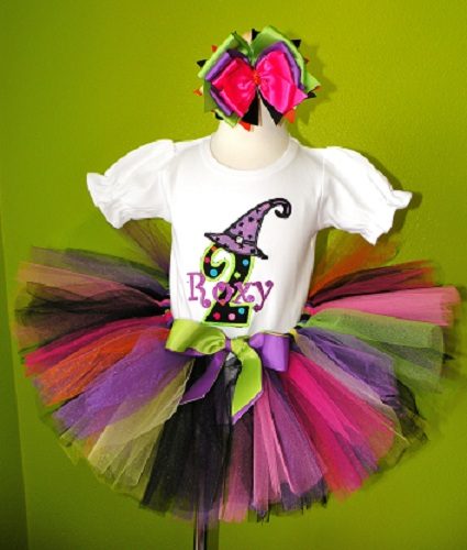 Witch Hat Personalized Halloween Tutu Set