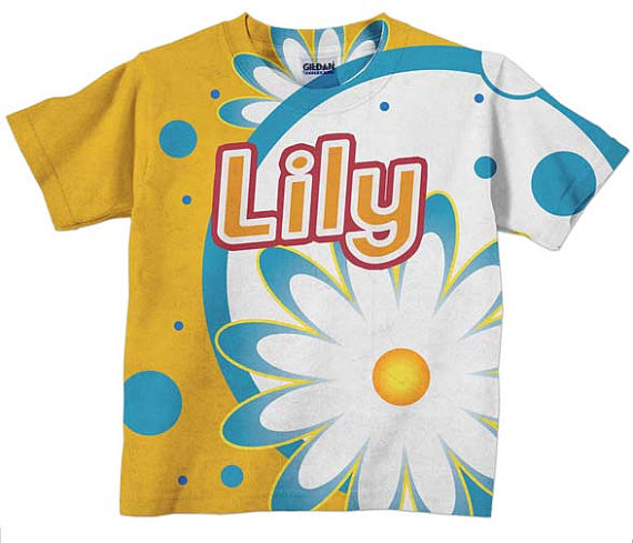 Girls Personalized Daisy Explosion T-Shirt