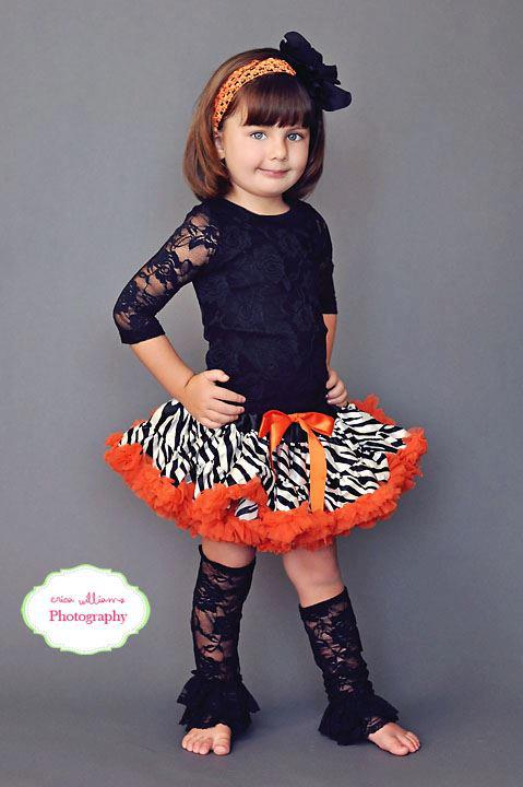 Orange Zebra Print Pettiskirt ONLY